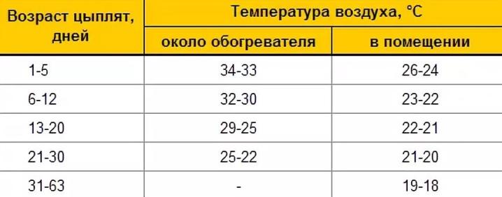 obogrev dlya cyplyat optimalnaya temperatura soderzhaniya